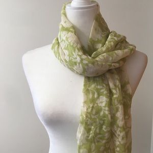 3/$20 Tickled Pink scarf in floral green and white
